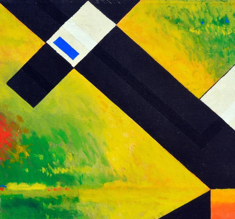 White Abstract Cubes -- San Francisco Abstract Expressionist School For Sale 1
