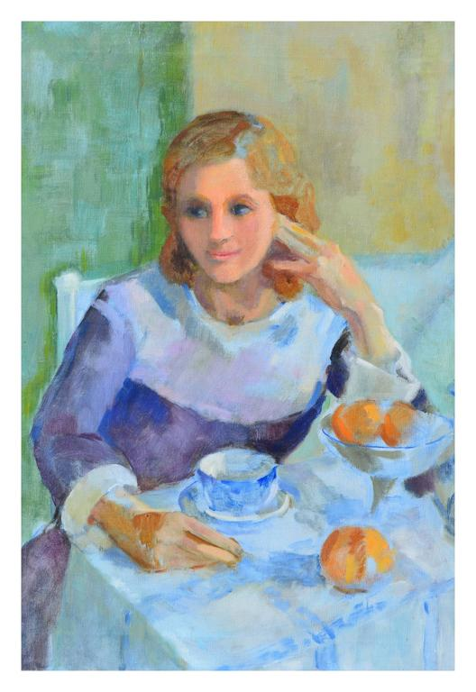 Tea Time - Painting by Patricia Gillfillan