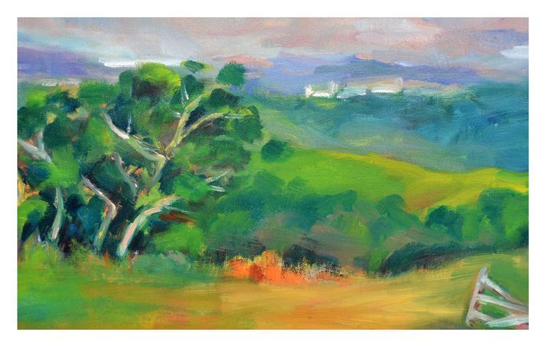 California Coastal Mountains Landscape - Painting by Jack Lynn