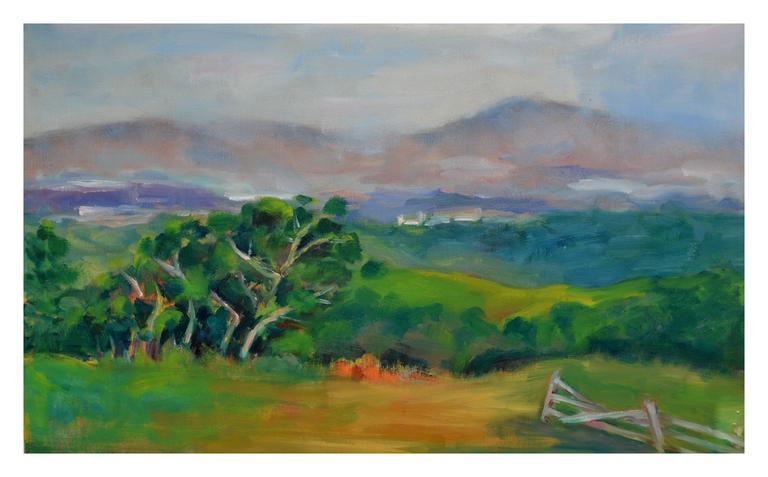 California Coastal Mountains Landscape - American Impressionist Painting by Jack Lynn