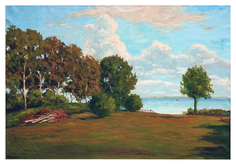 Monterey Bay Vista from Opal Cliffs  - Painting by Paul Geisler
