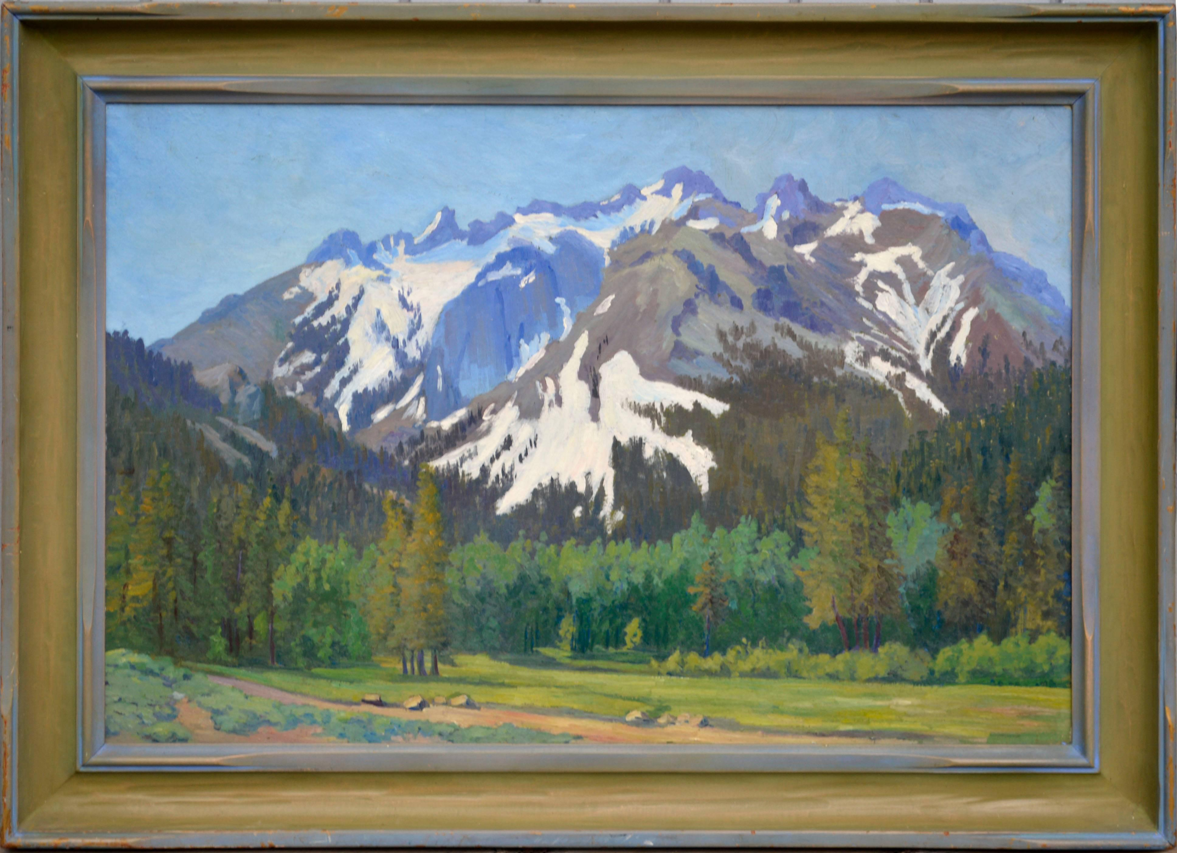 Early 20th Century Yosemite Mountain Landscape
