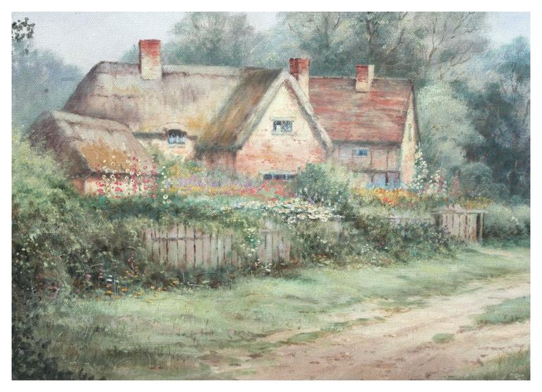 A Good Day's Walk - Cumberland, England - Impressionist Painting by Michael Matthews