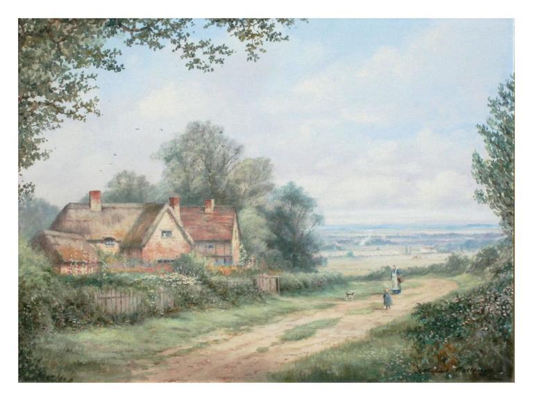 A Good Day's Walk - Cumberland, England - Painting by Michael Matthews