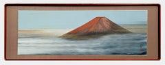 Mid Century Modern Mt. Fuji Landscape