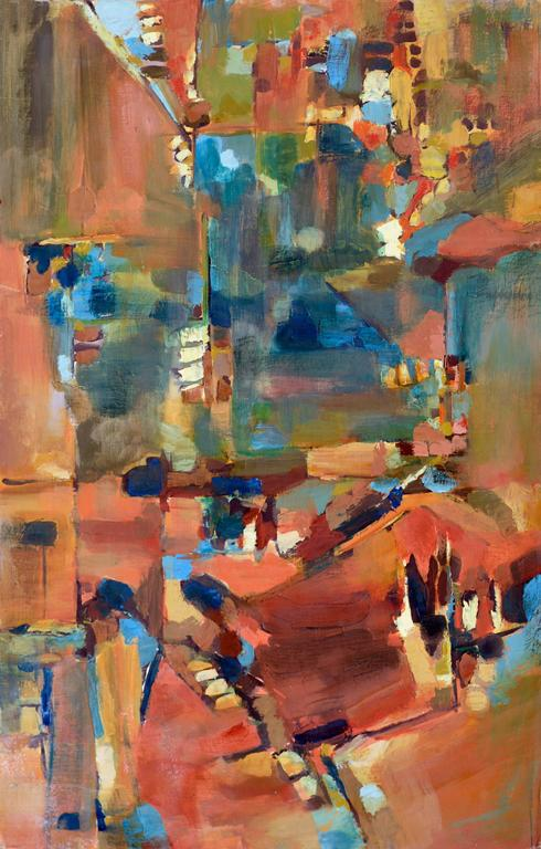 Berkeley towards San Francisco by Brockman - Abstract Expressionist Painting by Unknown