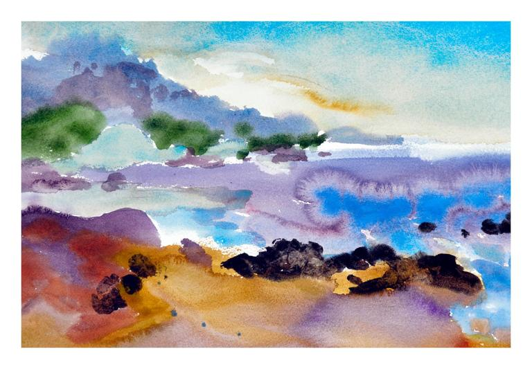 Carmel Cove - Painting by Les Anderson