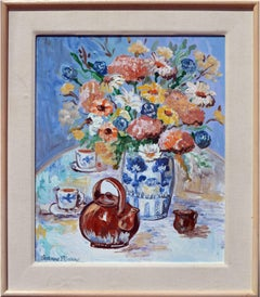 Flower Vase and Teapot Still Life