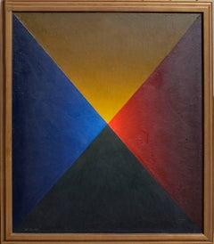 Mid Century Tetrahedron Geometric Abstract