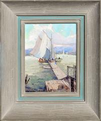 Bickfords Landing, Gloucester Harbor by Nell Walker Warner