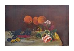 Victorian Floral and Fruit Still Life