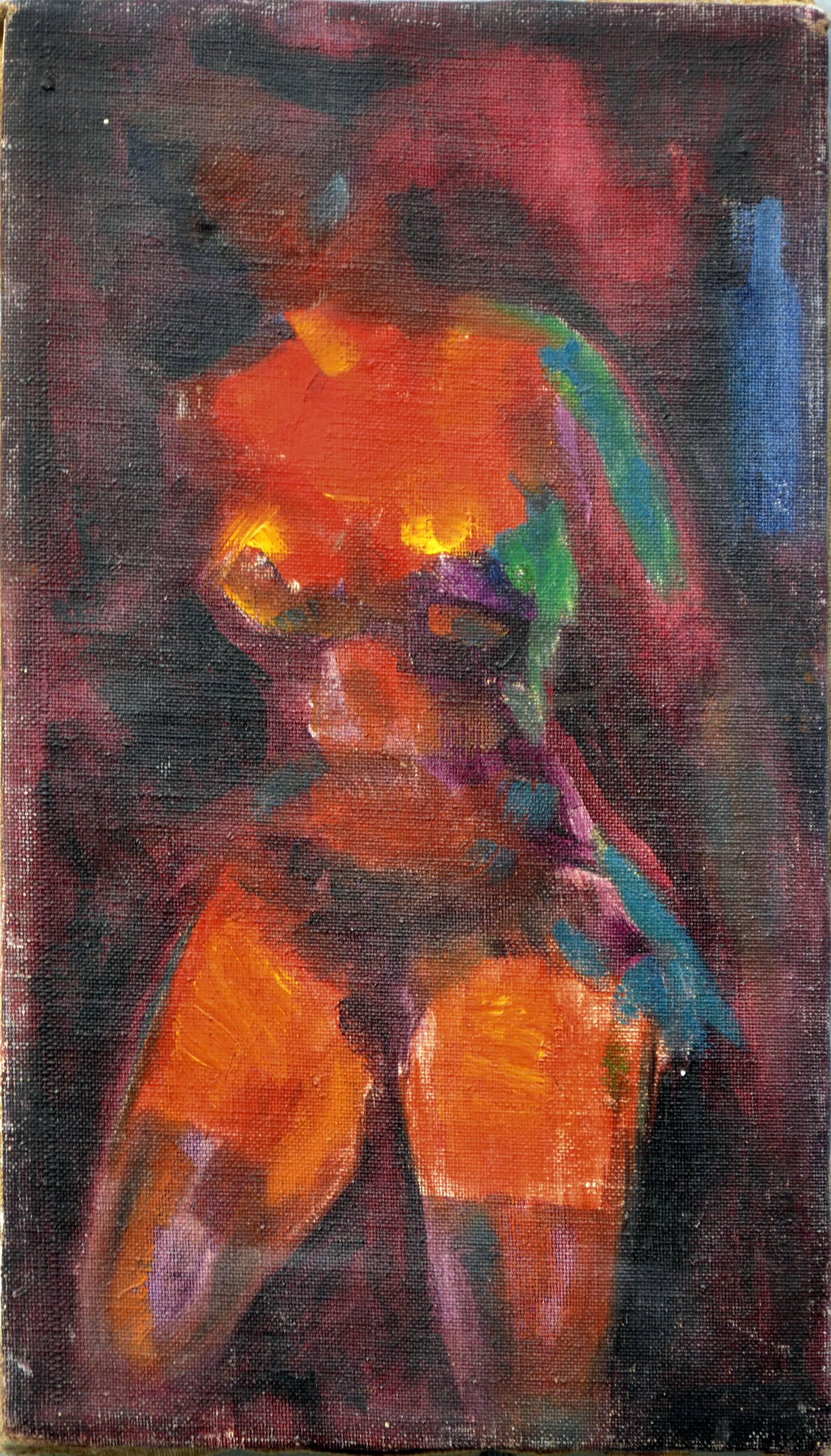 Abstract Expressionist Multicolor Nude Figure