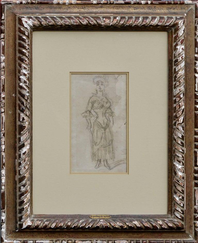 Constantin Ernest Adolphe Hyacinthe Guys Figurative Art - Late 19th Century L'Amazon Figurative