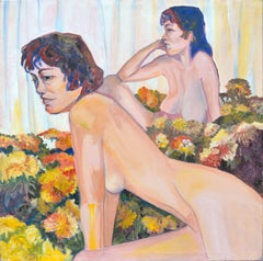 Nudes in Flowers of Michel Figurative