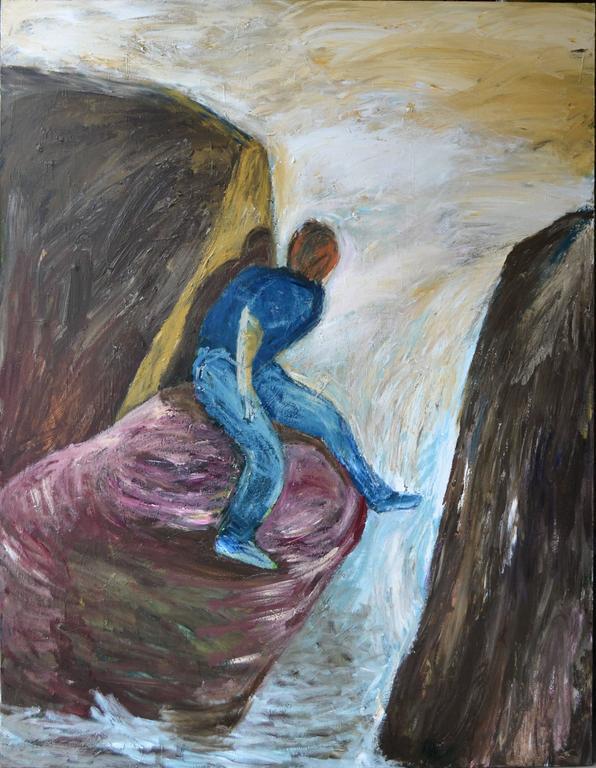 Pat Klein Figurative Painting - Separate Premises