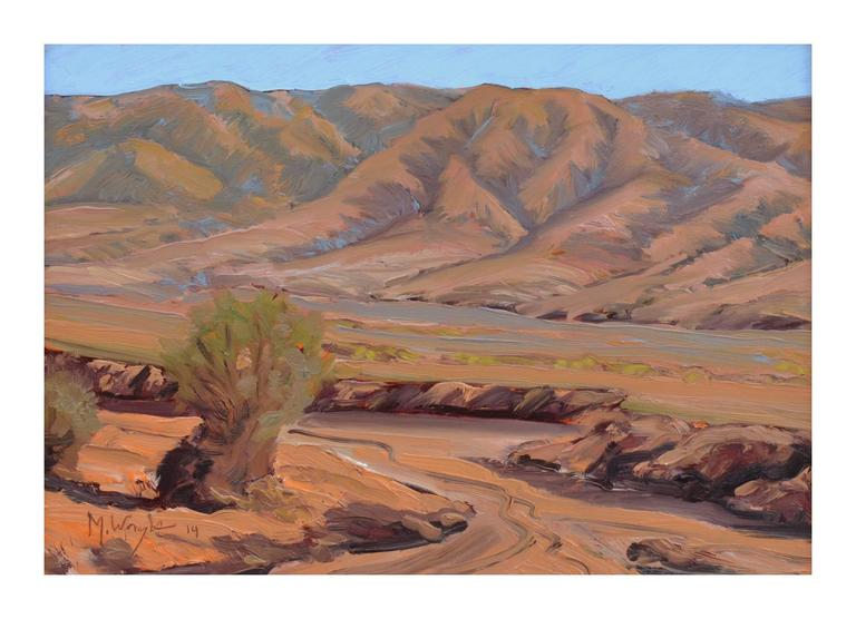 South of Death Valley Landscape - Painting by Mike Wright