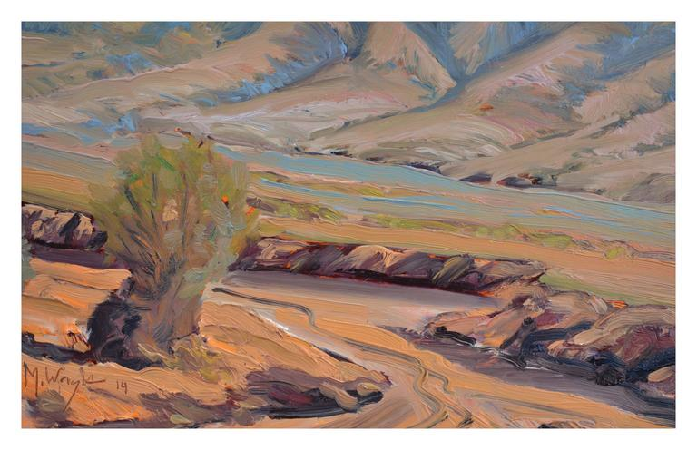 South of Death Valley Landscape - American Impressionist Painting by Mike Wright