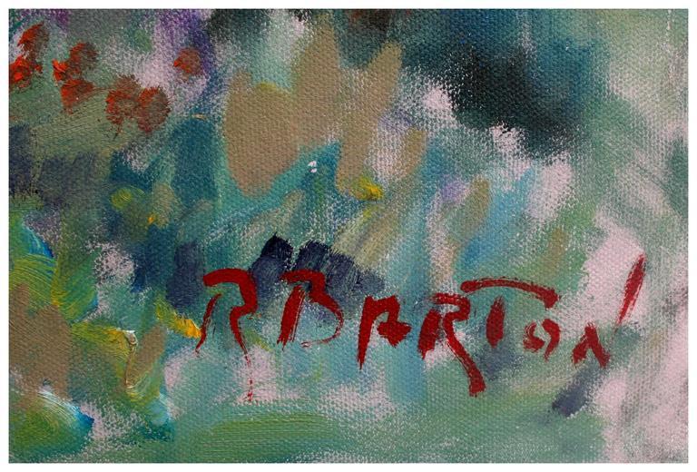 Pebble Beach Eucalyptus - American Impressionist Painting by Ray Barton