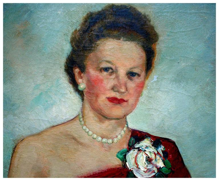 Maria Von Ridelstein The White Rose Painting For Sale
