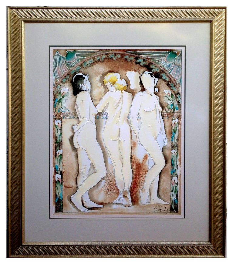 Anne Ormsby Nude Print - The Aunties