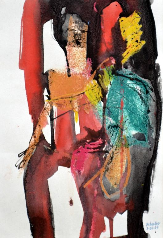 Abstract Nude - Painting by William Wheeler