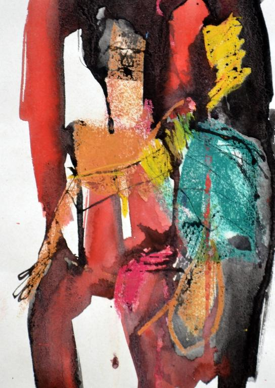 Abstract Nude - Abstract Expressionist Painting by William Wheeler