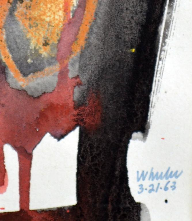 Figurative abstract by William (Bill) Wheeler (American, b-1940). Unframed. Signed