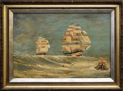 F. Calvert - 1870s Schooners Under Sail After Frederick Calvert