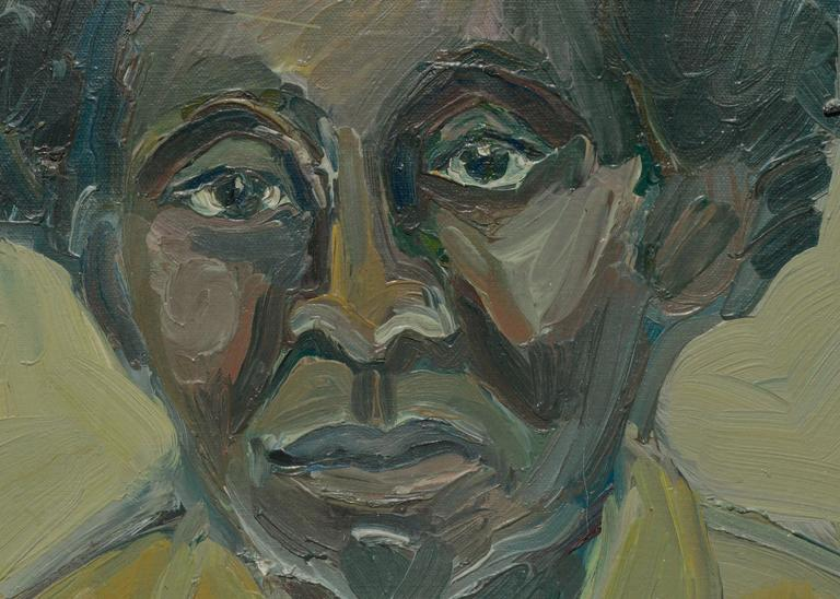 Bay Area Figurative Movement Portrait, C. 1950 - Painting by American School (20)