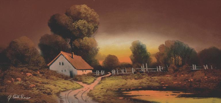 Country Cottage - Realist Art by Albert Francis Glatthaar
