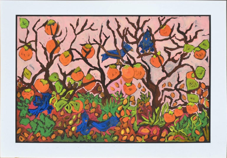 Persimmons and Blue Jays