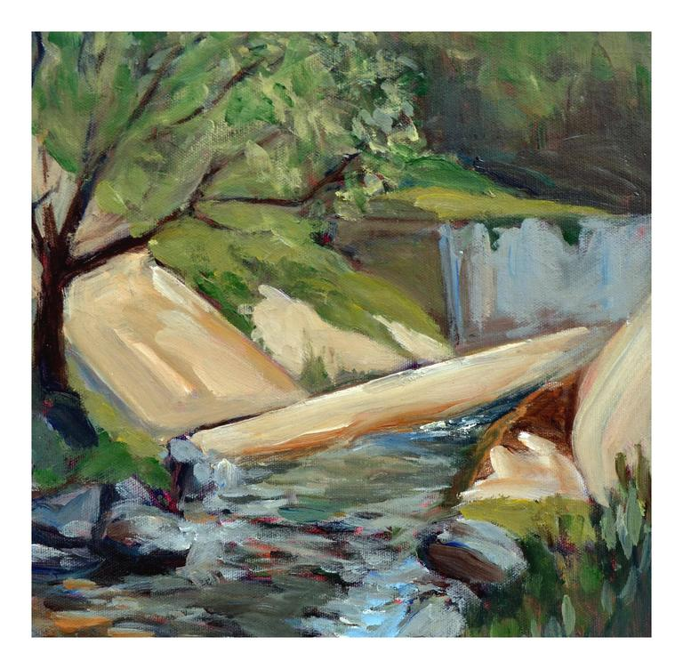 Big Sur Stream - Weaver - Painting by Unknown