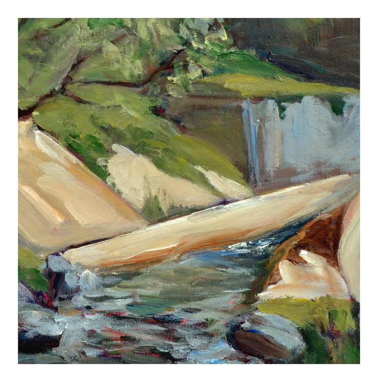 Big Sur Stream - Weaver - American Impressionist Painting by Unknown