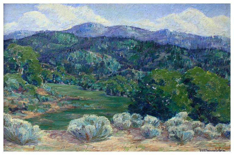 Mouth of the Canyon Taos, New Mexico - Painting by Unknown