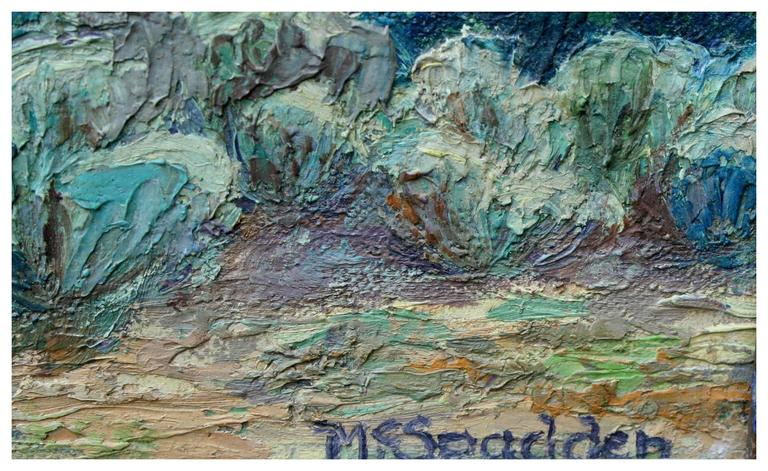 Mouth of the Canyon Taos, New Mexico - American Impressionist Painting by Unknown