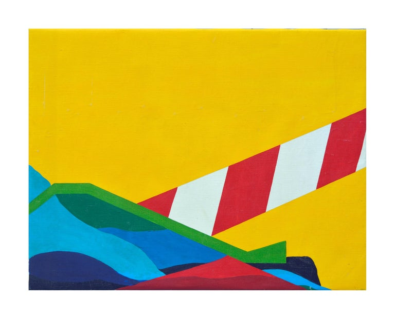 Costello Abstract Painting - Modernist Lighthouse