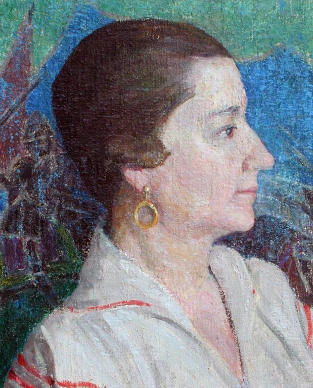 Portrait of a Woman, Emily Murphy Canadian - Painting by Helen Charlton McClain