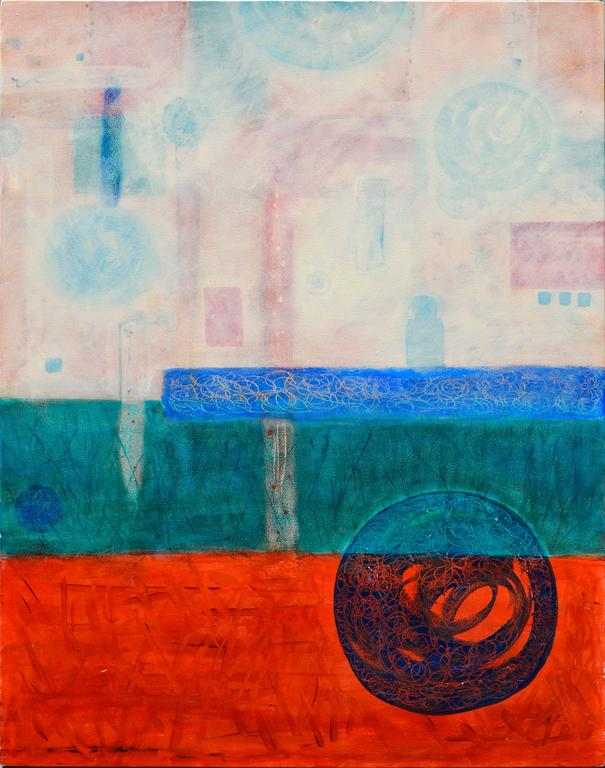 Origins Abstract  - Painting by Julie Fudge