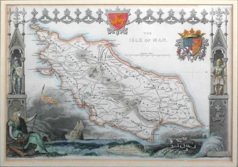 The Isle of Man, 1833 - Print by Thomas Moule