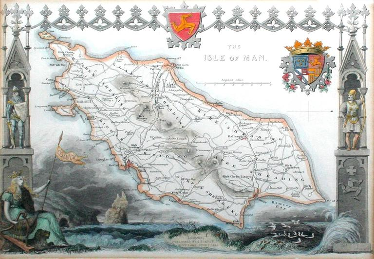 The Isle of Man, 1833 - Gray Landscape Print by Thomas Moule