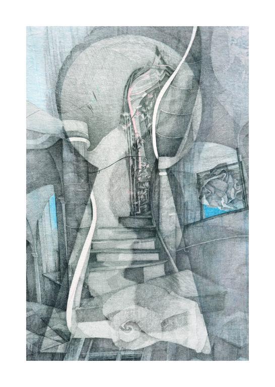 Venetian Keyhole by Katherine Chang Liu - Modern Print by  Katherine Chang Liu