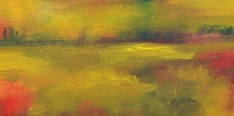 Wetlands at Sunset Landscape - Painting by Tom Hamil