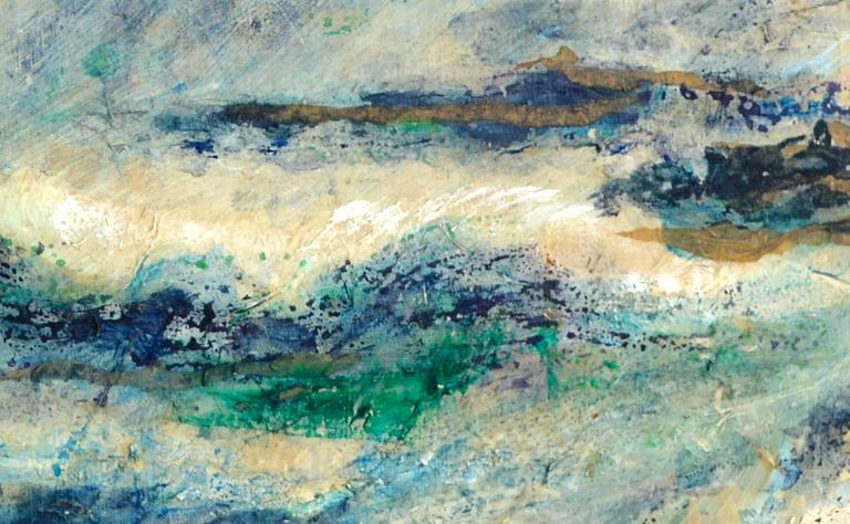 beatrice wheelock abstract waves painting for sale at 1stdibs