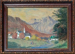 Turn of the Century French Village Landscape
