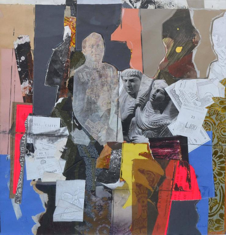 Mid Century Antica Roma Figurative Collage - Painting by James Coughlin