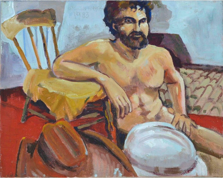 Patricia Gren-Haynes Figurative Painting - The Cowboy Figurative