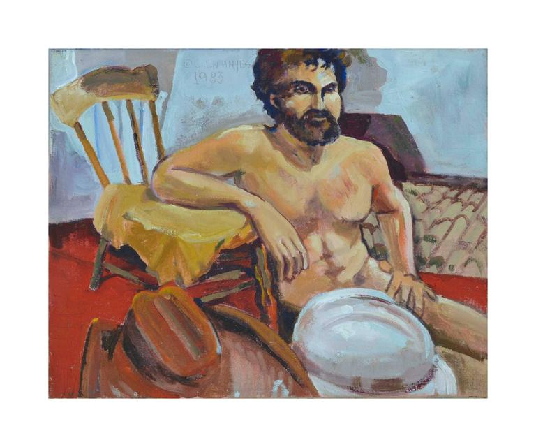 The Cowboy Figurative - Painting by Patricia Gren-Haynes