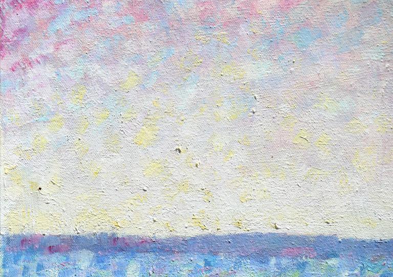 Ocean Suite #1 - Beige Abstract Painting by John Faulkner