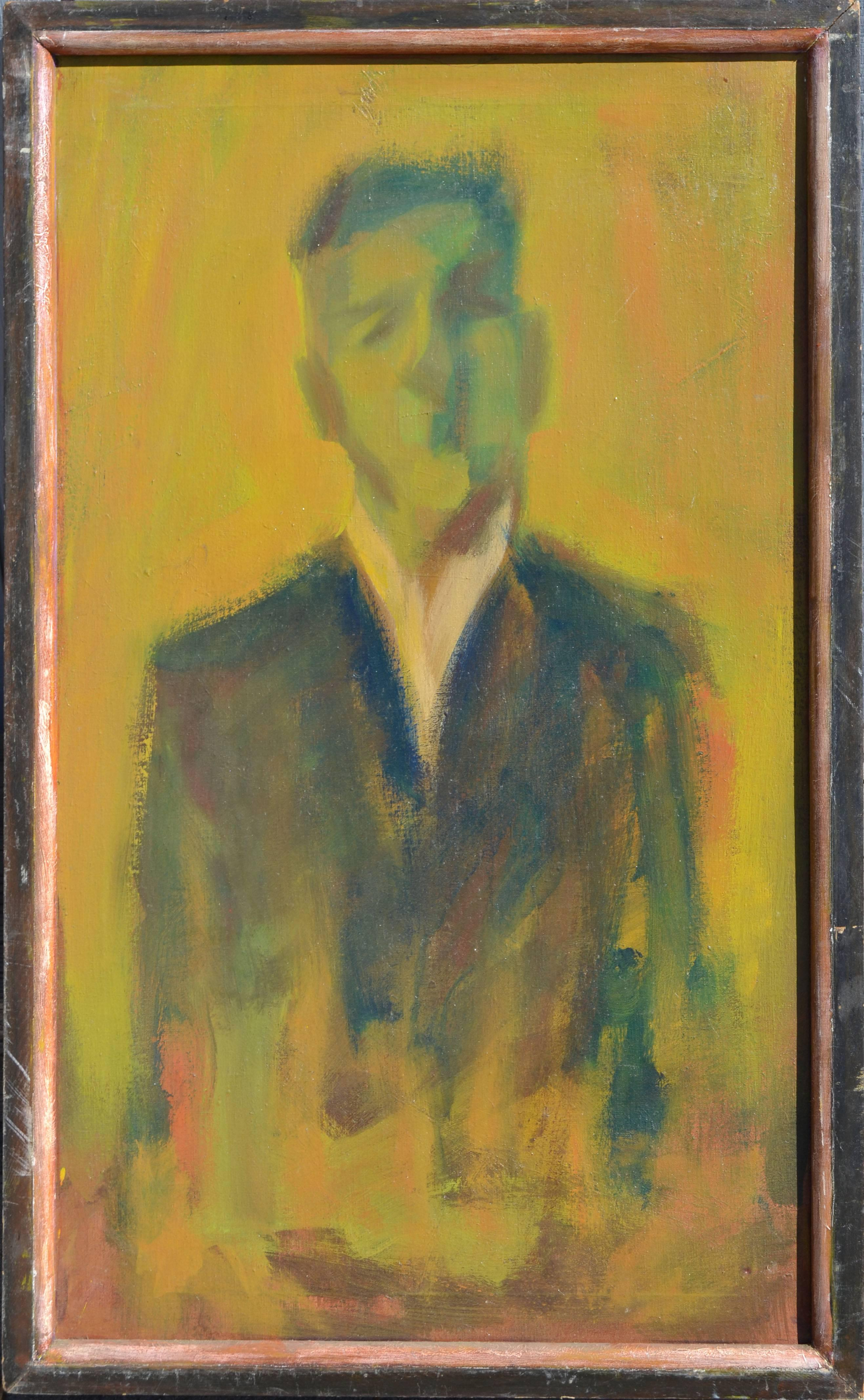 Mid Century Modern Abstracted Figurative - Man in Suit