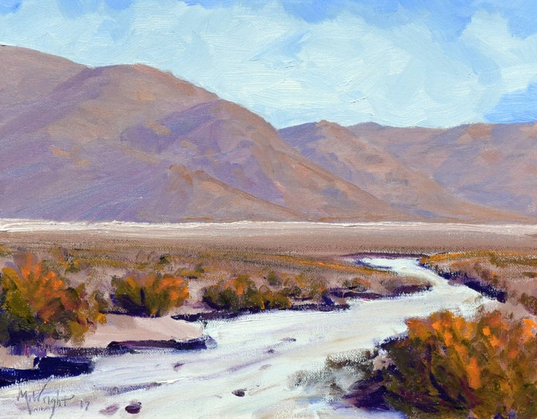 Desert Flats, Death Valley Landscape - Painting by Michael Wright